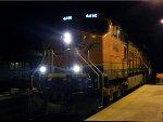 BNSF 4490 on CSX ethanol train K493 at 1230A.